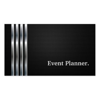 Event Planner Professional Black Silver Pack Of Standard Business Cards