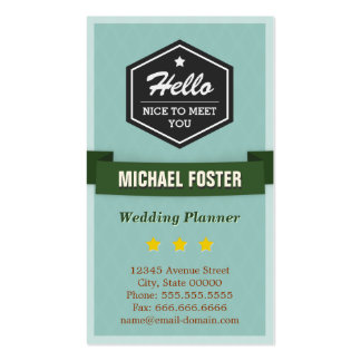Event Planner - Vintage Style Hello Pack Of Standard Business Cards