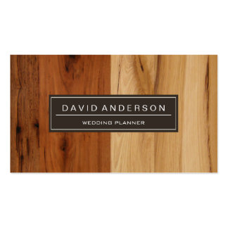 Event Planner - Wood Grain Look Pack Of Standard Business Cards