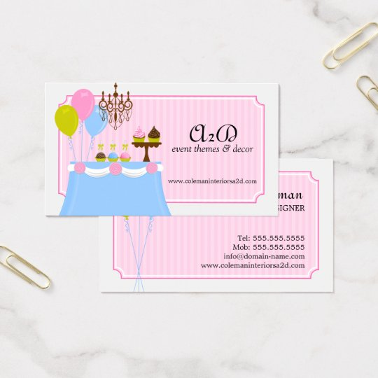 Event Stylist Custom Business Card
