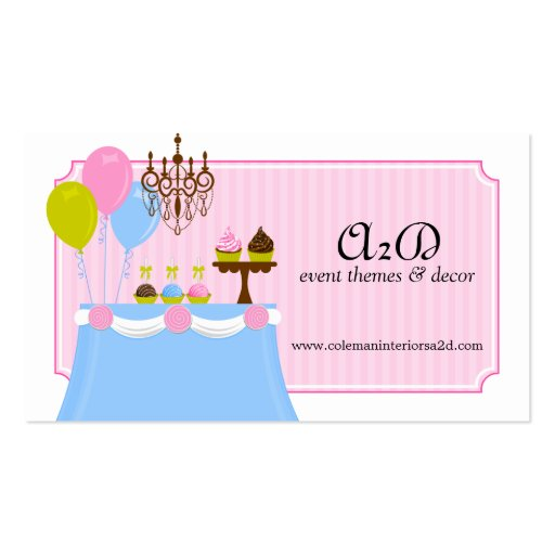 Event Stylist Custom Business Cards