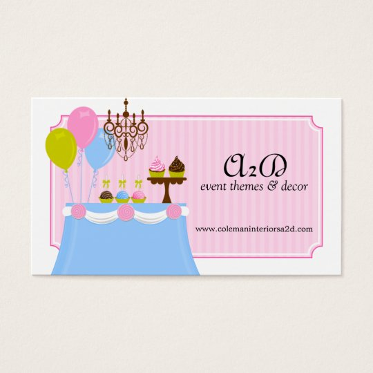 Event Stylist Custom Business Cards