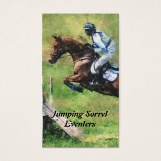 Eventer cross country jumping business card