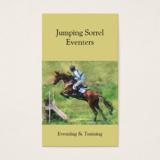 Eventing cross country jump business card