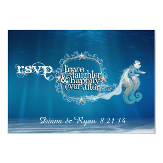 Ever After Seahorse RSVP Card