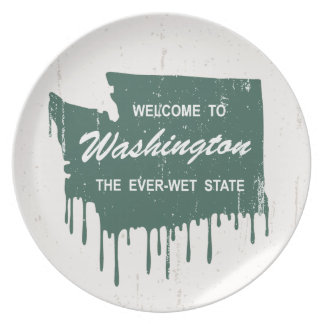 Ever-Wet State Dinner Plates