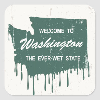 Ever-Wet State Square Sticker