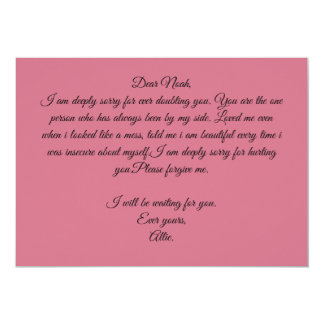 Ever yours. card