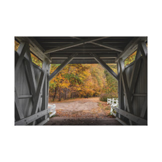Everatt Road Covered Bridge Canvas Print