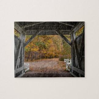 Everatt Road Covered Bridge Jigsaw Puzzle