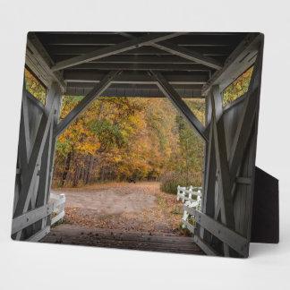 Everatt Road Covered Bridge Photo Plaque