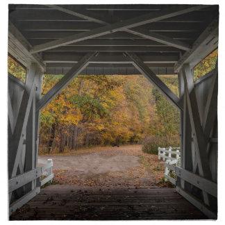 Everatt Road Covered Bridge Printed Napkins