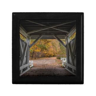 Everatt Road Covered Bridge Small Square Gift Box