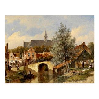 Everday Life in Edam - Petrus Gerardus Vertin Postcard