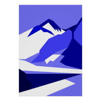 Everest - blue poster