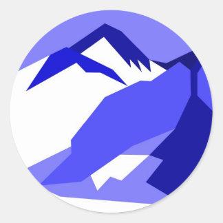 Everest - blue round sticker