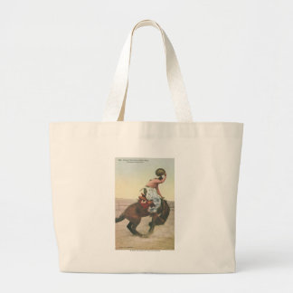 Everett McGucin on Blue Dog Cheyenne Frontier Days Large Tote Bag
