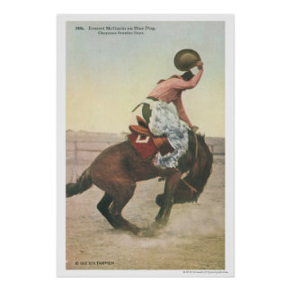 Everett McGucin on Blue Dog Cheyenne Frontier Days Poster