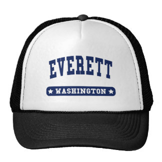 Everett Washington College Style tee shirts Trucker Hat
