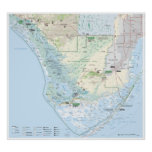 Everglades map poster