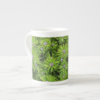 Evergreen branches tea cup