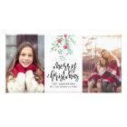 Evergreen Christmas Holiday 2-Photo Card