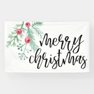 Evergreen Christmas Holiday Banner