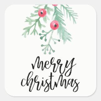 Evergreen Christmas Holiday Sticker