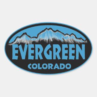Evergreen Colorado blue oval stickers