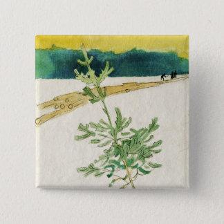 Evergreen in Snow 15 Cm Square Badge