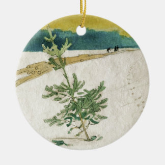Evergreen in Snow Ceramic Ornament