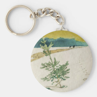 Evergreen in Snow Key Ring