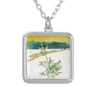 Evergreen in Snow Silver Plated Necklace