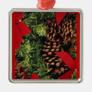 Evergreen Pine Cones Christmas Ornament