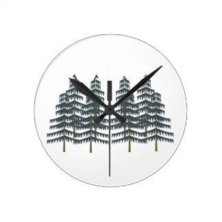 Evergreen Pleasures Round Clock