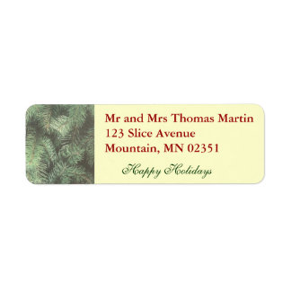 Evergreen Return Address Label