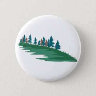 Evergreen Scene 6 Cm Round Badge