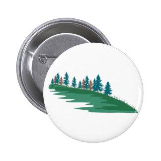 Evergreen Scene 6 Cm Round Badge