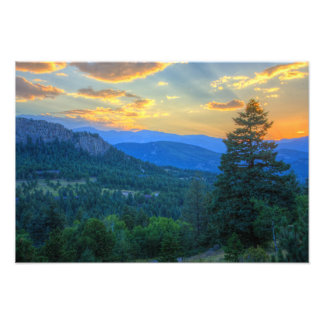 Evergreen Sunset Photo Print