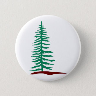 Evergreen Tree 6 Cm Round Badge