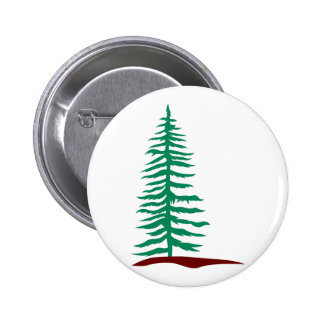 Evergreen Tree 6 Cm Round Badge