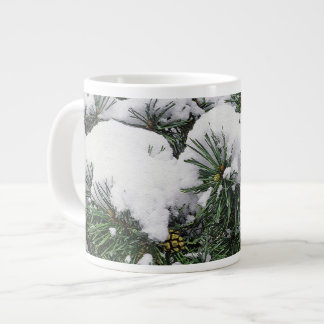EVERGREEN TREE WITH SNOW-LADEN BOUGHS LARGE COFFEE MUG
