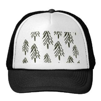 Evergreen trees cap