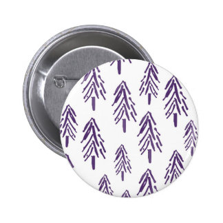 Evergreen Trees in Purple 6 Cm Round Badge
