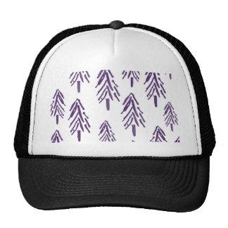 Evergreen Trees in Purple Cap