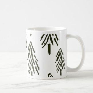 Evergreen trees mugs