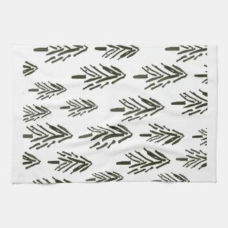 Evergreen trees tea towel