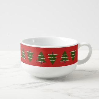 Evergreen Trees With Snow Soup Mug