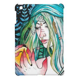 Evergreen - Watercolor Portrait iPad Mini Cover