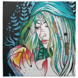 Evergreen - Watercolor Portrait Napkin